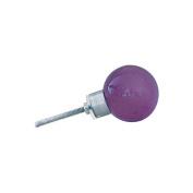Large Ball Glass Door Knob Purple