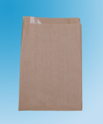 1000 x Bread Bags. Large Brown Bag with Window. 200+90 x 350 mm