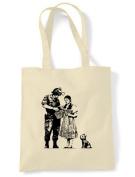 Banksy Stop & Search Tote \ Shoulder Bag