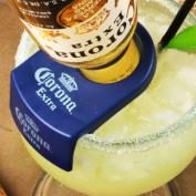 CoronaRita Bottle Holder   CoronaRita Clip for Schooner & Goblet Glasses   Coronita Rita Clip, Beergarita Clip, Mexican Bulldog Margarita Clip