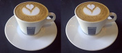 2 X Lavazza 160ml Cappuccino Cups and Saucers