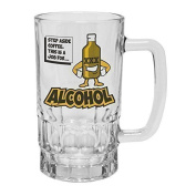 123t Mugs/Steins STEP ASIDE COFFEE, THIS IS A JOB FOR ALCOHOL 470ml Clear Glass Beer Mug/Stein