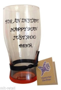 Orange 'For A Instant Happy Man Just Add Beer' Hand Painted Pint Glass by Memories-Like-These UK
