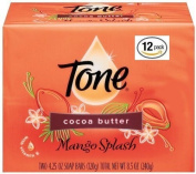 Tone Soap Bar, Cocoa Butter, 12 Bars Total (Packaging may vary), 130ml per bar