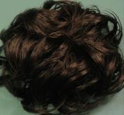 LACEY 7.6cm Pony Fastener Hair Scrunchie by Mona Lisa 6-Dark Chestnut Brown