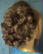 DAWN Clip On Hairpiece by Mona Lisa 38 Ash Brown with 10% Grey