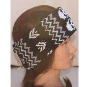 Black White Skulls Grey Knitted Wide Winter Snood Tube Scarf Headband Ear Warmer