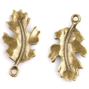 5 Pieces Antique Bronze Alloy Leaf Charms, Jewellery Findings, Jewellery Supplies, Earrings