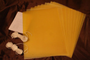 15 Organic Beeswax Sheets 23cm X 30cm Make Your Own Candle Kit