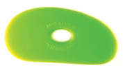 Sherrill Mudtools Shape 1 Polymer Rib for Pottery and Clay Artists, Green Colour, Medium