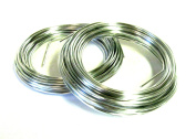Oasis Aluminium Wire - Silver- 12-gauge - Decorative Wire - (2) Pack