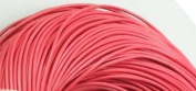 5 Metres 2mm Watermelon Red Round Geniune Leather Cord Jewellery Good for DIY Ideas