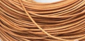5 Metres 2mm Light Tan Round Geniune Leather Cord Jewellery Good for DIY Ideas
