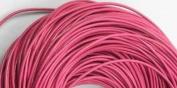 5 Metres 2mm Dark Pink Round Geniune Leather Cord Jewellery Good for DIY Ideas
