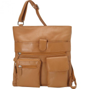 R & R Collections Large Crossbody with Two Front Pockets