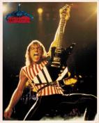 The Scorpions Matthias Jabs with Guitar Vintage 80s 20cm x 25cm Photograph