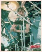 Judas Priest Dave Holland with Drums Portrait Vintage 80s 20cm x 25cm Photograph