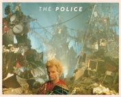 The Police Sting with Pile of Equipment Portrait Vintage 80s 20cm x 25cm Photograph