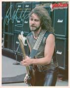 Judas Priest Ian Hill with Guitar Portrait Vintage 80s 20cm x 25cm Photograph