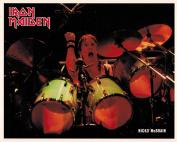 Iron Maiden Nicko McBrian with Drums Portrait Vintage 80s 20cm x 25cm Photograph