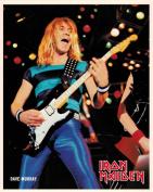 Iron Maiden Dave Murray with Guitar Portrait Vintage 80s 20cm x 25cm Photograph