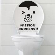 Waterproof Closestool Sticker Bathroom Wall Stickers Decoration