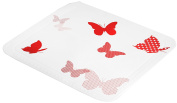 Springtime Shower Stall Mats/tub Safety Mats/neck Pad - Red