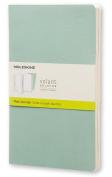 Moleskine Volant Journal (Set of 2), Large, Plain, Sage Green, Seaweed Green, Soft Cover