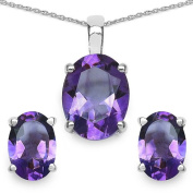 3.50 Carat Genuine Amethyst Sterling Silver Set