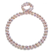 HinsonGayle AAA Handpicked 8.0-8.5mm Ultra-Lustre Lavender Oval Freshwater Cultured Pearl Rope