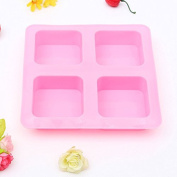 Rectangle Square Silicone Mould For DIY Chocolate Cake Mould Soap, 4-Square