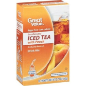 Great Value Sugar Free, Low Calorie Decaffeinated Iced Tea with Peach Drink Mix