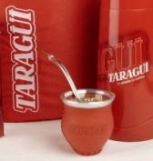 Leather Glass Mate Gourd Set Taragui