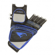 Elevation Adrenalin Quiver, Black/Blue, 4-Tube, Right Hand