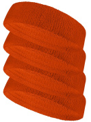 Couver Terry Solid Colour Headband / Sweatband - 4 Pieces