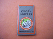 Organ Sewing Machine Regular Point Needles with Flat Shank - 15x1 - Size 16 for Heavier Fabrics - Package of 10 Needles