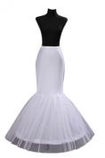 2 Hoop Mermaid Bridal Petticoat Half Slip Dress Underskirt P002