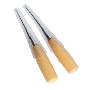 Co-link 2PCS Alloy Steel Wood Handle Punching Tapered Awl Craft Cloth Scratch Awl Repair Tool for DIY Craft