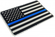 PVC 2x3 Tactical Police Law Enforcement Thin Blue Line United States Flag hook and loop Patch
