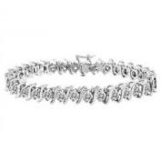 5.00 ct Round Cut Diamond S-Type Tennis Bracelet