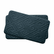 Bounce Comfort Caicos Extra Thick Premium Memory Foam Bath Mat Set of 2 with BounceComfort Technology, 43cm x 60cm Slate Teal