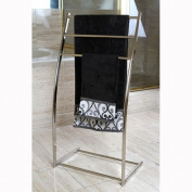 Brass Edenscape Free Standing Towel Rack Satin Nickel