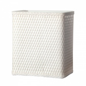 Lamont Home Carter Wicker Waste Basket, White