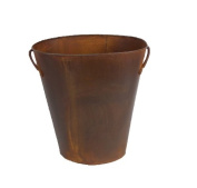 Craft Outlet Rustic Waste Basket with Handles, 30cm
