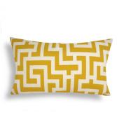 Domusworks Maze Lumbar Pillow, Yellow