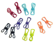 Adorox Colourful Metal Holders Clips Multi-Purpose Bags Clothing (Assorted