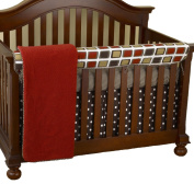 Cotton Tale Designs Front Crib Rail Cover Up Set, Houndstooth