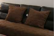 Set of 2 Brown Large Size 50cm x 50cm Bonded or Classic Micro Suede Sofa Cushion Cover / Case