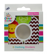#C180 Animals Boy Baby Closet Dividers Clothes Organisers Set of 6