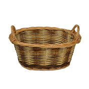 RURALITY Eco-friendly Wicker Storage Basket Planter with Handles